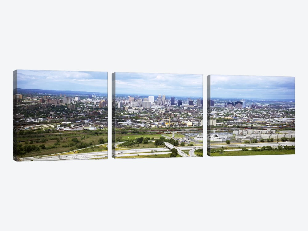 Aerial view of a city, Newark, New Jersey, USA by Panoramic Images 3-piece Canvas Art Print