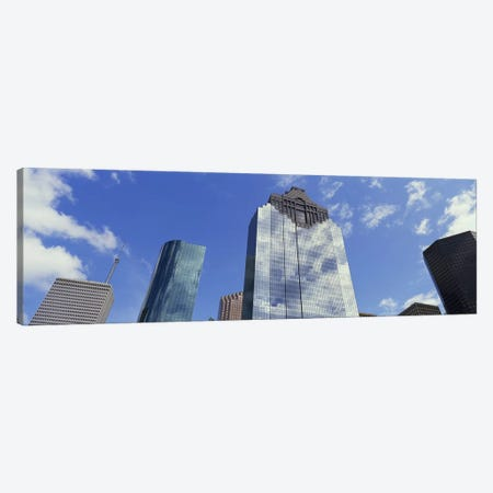 Low angle view of office buildings, Houston, Texas, USA Canvas Print #PIM5309} by Panoramic Images Canvas Print