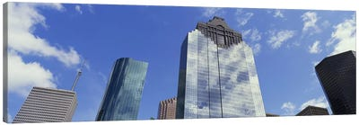 Low angle view of office buildings, Houston, Texas, USA Canvas Print #PIM5309