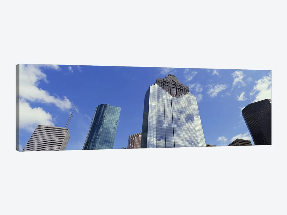 Low angle view of office buildings, Houston, Texas, USA by Panoramic Images 1-piece Art Print