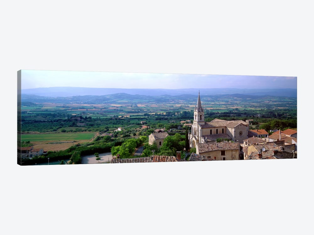 Aerial View Of A Church, Bonnieux, Provence-Alpes-Cote d'Azur, France by Panoramic Images 1-piece Art Print
