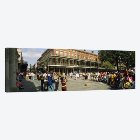 Tourists in front of a building, New Orleans, Louisiana, USA Canvas Print #PIM5318} by Panoramic Images Canvas Art