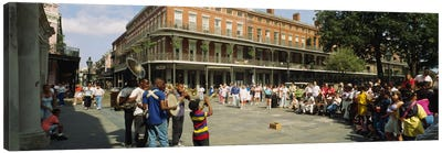 Tourists in front of a building, New Orleans, Louisiana, USA Canvas Print #PIM5318