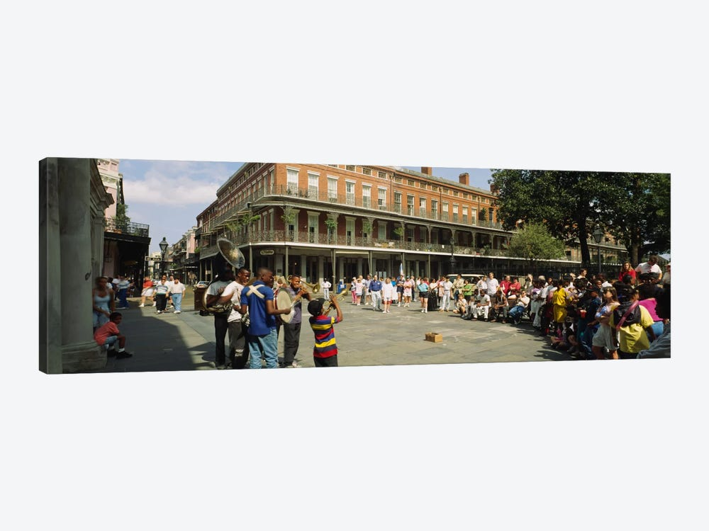 Tourists in front of a building, New Orleans, Louisiana, USA by Panoramic Images 1-piece Canvas Print