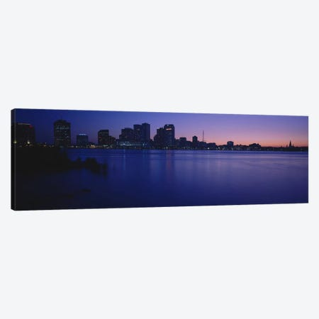 Buildings at the waterfront, New Orleans, Louisiana, USA Canvas Print #PIM5319} by Panoramic Images Canvas Artwork