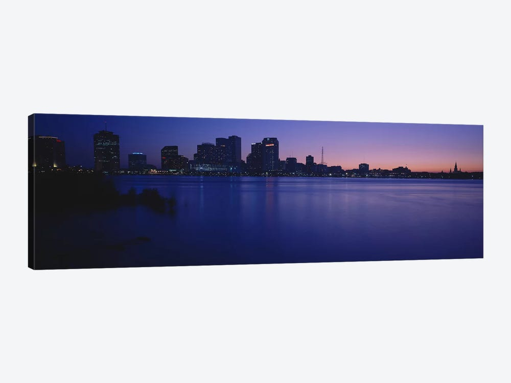 Buildings at the waterfront, New Orleans, Louisiana, USA by Panoramic Images 1-piece Canvas Art