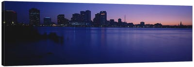 Buildings at the waterfront, New Orleans, Louisiana, USA Canvas Art Print