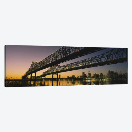 Low angle view of a bridge across a river, New Orleans, Louisiana, USA Canvas Print #PIM5320} by Panoramic Images Art Print