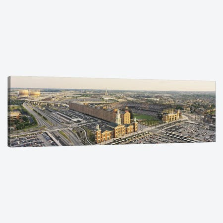 Aerial view of a baseball stadium in a city, Oriole Park at Camden Yards, Baltimore, Maryland, USA Canvas Print #PIM5323} by Panoramic Images Art Print