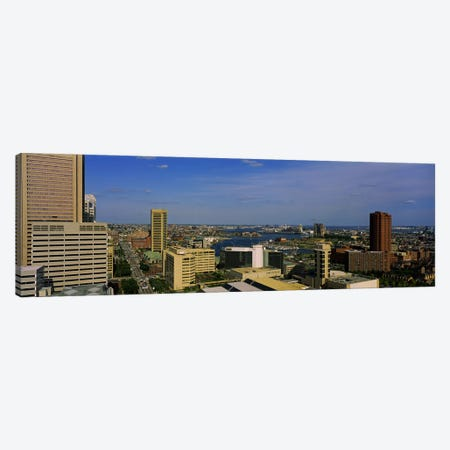 High angle view of skyscrapers in a city, Baltimore, Maryland, USA Canvas Print #PIM5324} by Panoramic Images Canvas Art