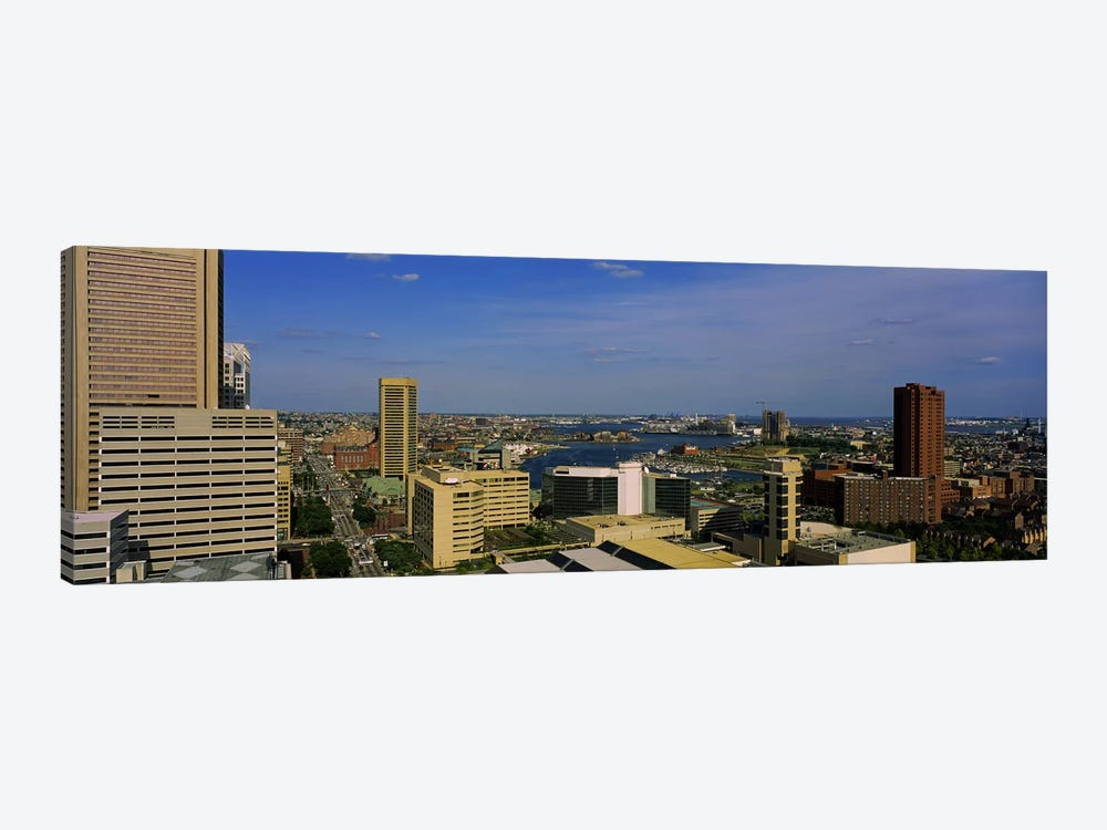 High angle view of skyscrapers in a city, Baltimore, Maryland, USA by Panoramic Images 1-piece Canvas Art