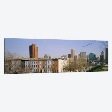 High angle view of buildings in a city, Inner Harbor, Baltimore, Maryland, USA Canvas Print #PIM5325} by Panoramic Images Canvas Wall Art