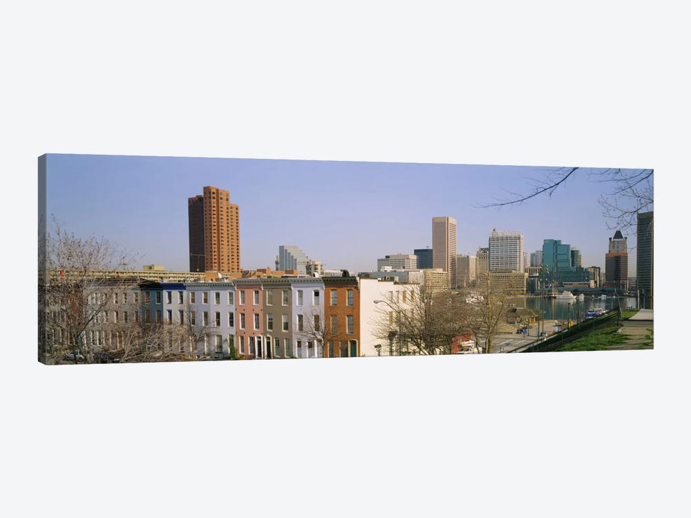 High angle view of buildings in a city, Inner Harbor, Baltimore, Maryland, USA by Panoramic Images 1-piece Art Print