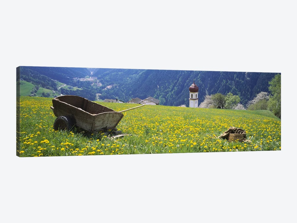 Wheelbarrow In A Field, Tyrol, Austria by Panoramic Images 1-piece Art Print