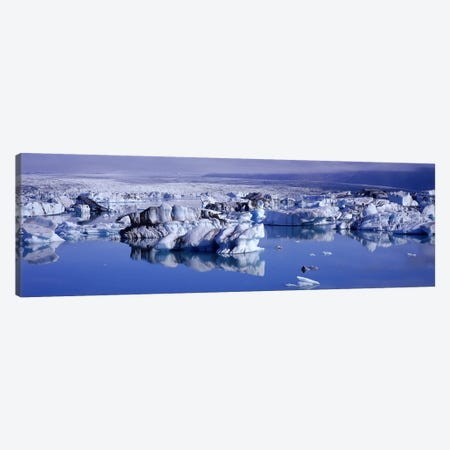 Jokulsarlon Glacial Lagoon, Breidamerkurjokull, Vatnajokull, Iceland Canvas Print #PIM5337} by Panoramic Images Canvas Print
