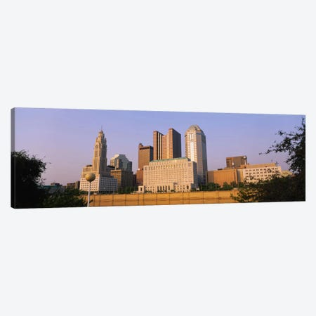 Low angle view of buildings in a city, Scioto River, Columbus, Ohio, USA Canvas Print #PIM5353} by Panoramic Images Canvas Art