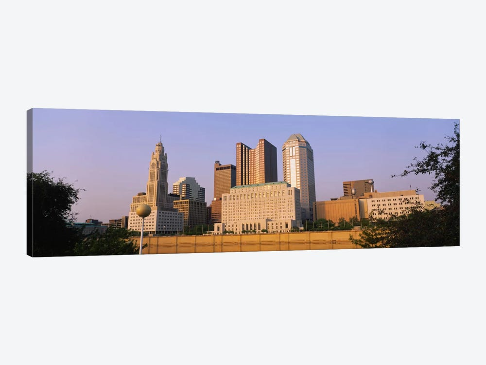 Low angle view of buildings in a city, Scioto River, Columbus, Ohio, USA by Panoramic Images 1-piece Canvas Art
