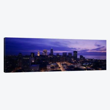 High angle view of buildings in a city, Cleveland, Ohio, USA Canvas Print #PIM5354} by Panoramic Images Canvas Art Print