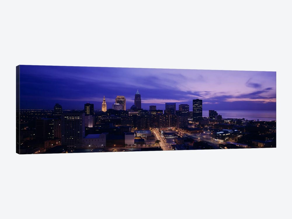 High angle view of buildings in a city, Cleveland, Ohio, USA by Panoramic Images 1-piece Canvas Print