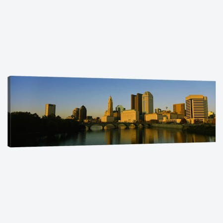 High angle view of buildings at the waterfront, Columbus, Ohio, USA Canvas Print #PIM5357} by Panoramic Images Canvas Art Print