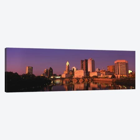 Buildings at the waterfront, Columbus, Ohio, USA Canvas Print #PIM5358} by Panoramic Images Canvas Wall Art