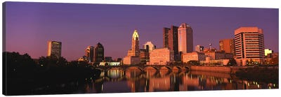 Buildings at the waterfront, Columbus, Ohio, USA Canvas Art Print