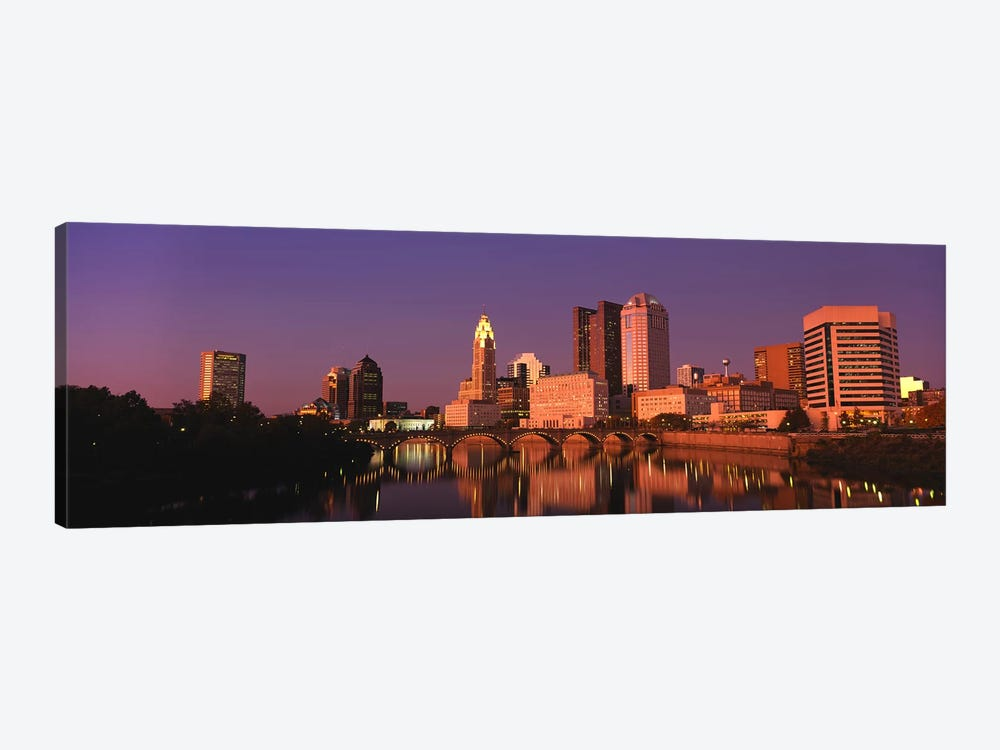 Buildings at the waterfront, Columbus, Ohio, USA by Panoramic Images 1-piece Art Print