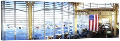 Interior of an airport, Ronald Reagan Washington National Airport, Washington DC, USA Canvas Print #PIM5359