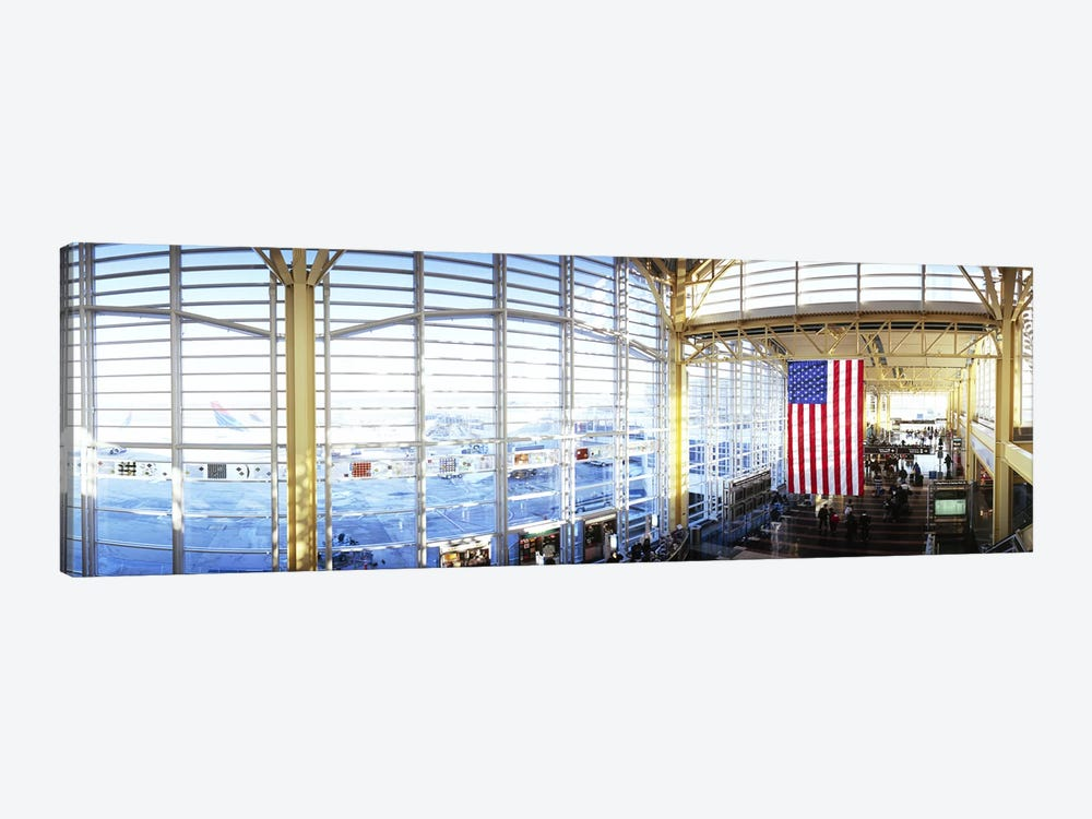 Interior of an airport, Ronald Reagan Washington National Airport, Washington DC, USA by Panoramic Images 1-piece Canvas Art