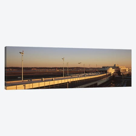 High angle view of an airport, Ronald Reagan Washington National Airport, Washington DC, USA Canvas Print #PIM5360} by Panoramic Images Art Print