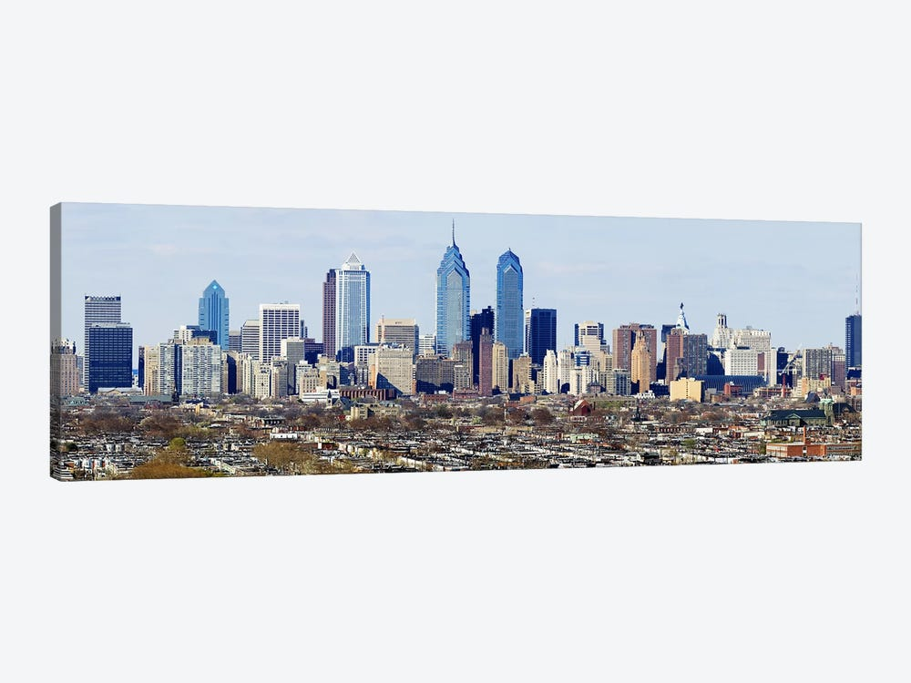 Skyscrapers in a city, Philadelphia, Pennsylvania, USA #4 by Panoramic Images 1-piece Art Print