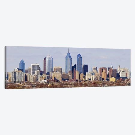 Skyscrapers in a city, Philadelphia, Pennsylvania, USA #5 Canvas Print #PIM5364} by Panoramic Images Canvas Wall Art