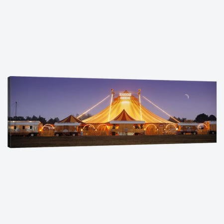 An Illuminated Big Top At Dusk, Narodni Cirkus, Prague, Czech Republic Canvas Print #PIM5369} by Panoramic Images Art Print
