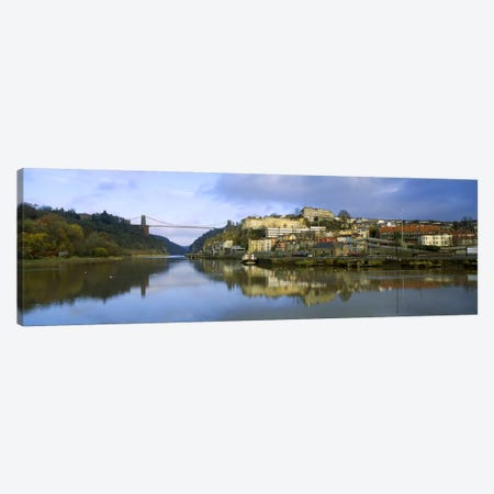 Distant View Of The Clifton Suspension Bridge, England, United Kingdom Canvas Print #PIM5372} by Panoramic Images Canvas Art
