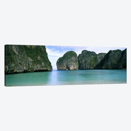 Limestone Cliffs, Maya Bay, Ko Phi Phi Leh, Phi Phi Islands, Krabi Province, Thailand Canvas Print #PIM5377} by Panoramic Images Canvas Art Print