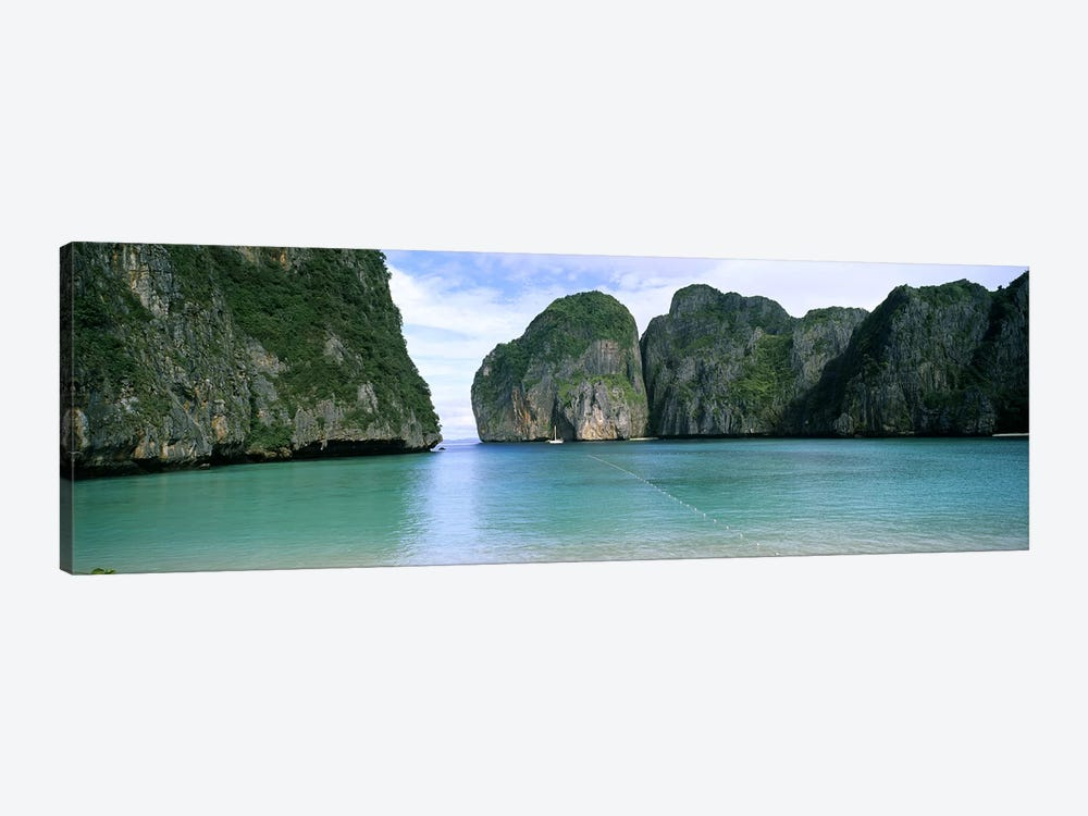 Limestone Cliffs, Maya Bay, Ko Phi Phi Leh, Phi Phi Islands, Krabi Province, Thailand by Panoramic Images 1-piece Canvas Wall Art