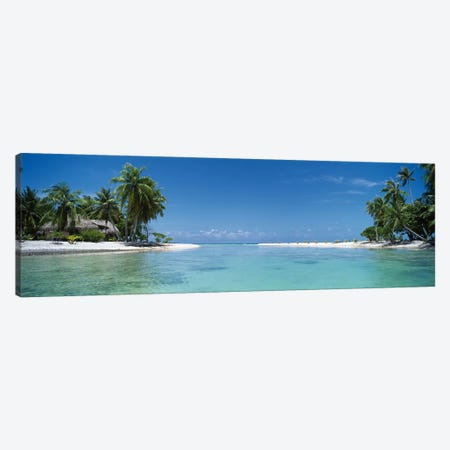 Tropical Landscape, Tikehau, Palliser Islands, French Polynesia Canvas Print #PIM5386} by Panoramic Images Canvas Artwork