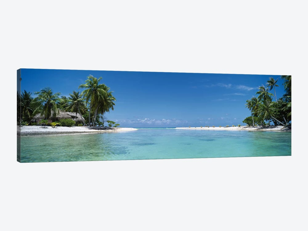 Tropical Landscape, Tikehau, Palliser Islands, French Polynesia by Panoramic Images 1-piece Canvas Art