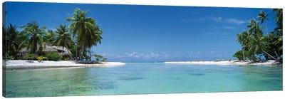 Tropical Landscape, Tikehau, Palliser Islands, French Polynesia Canvas Art Print