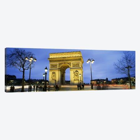 Tourists walking in front of a monument, Arc de Triomphe, Paris, France Canvas Print #PIM5387} by Panoramic Images Canvas Art