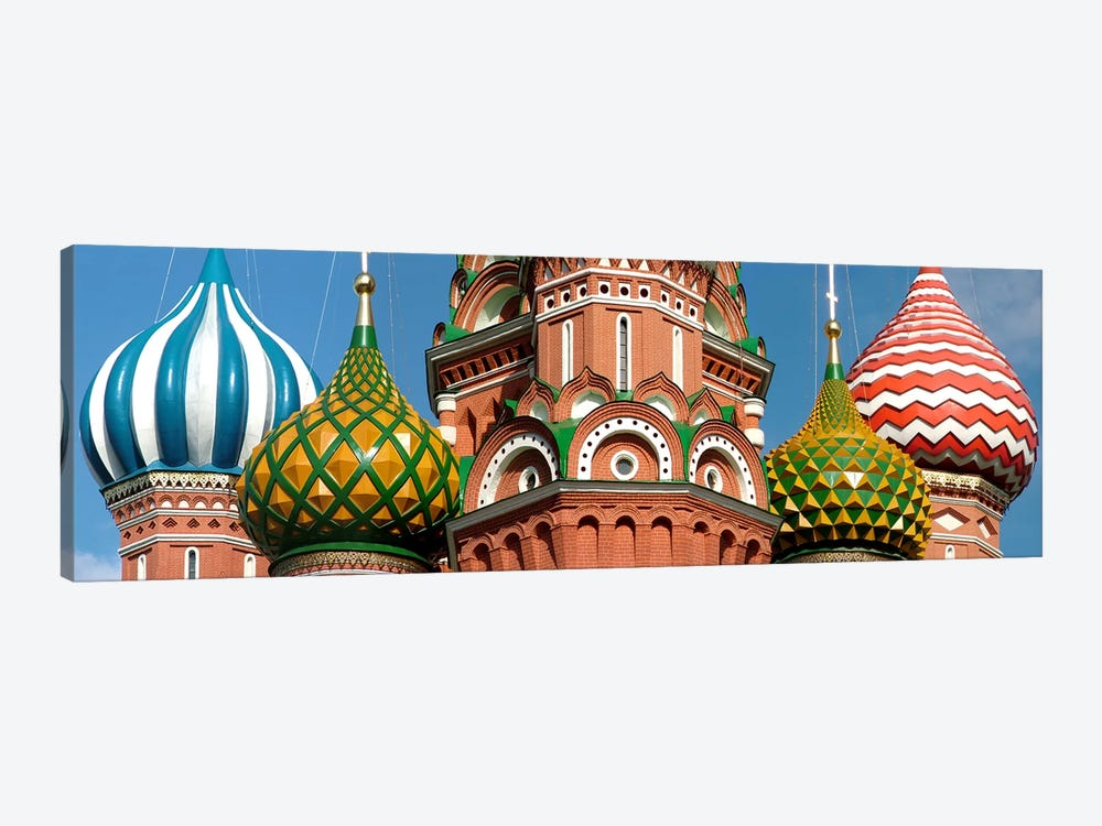 Mid section view of a cathedral, St. Basil's Cathedral, Red Square, Moscow, Russia by Panoramic Images 1-piece Canvas Artwork