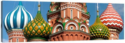 Mid section view of a cathedral, St. Basil's Cathedral, Red Square, Moscow, Russia Canvas Art Print