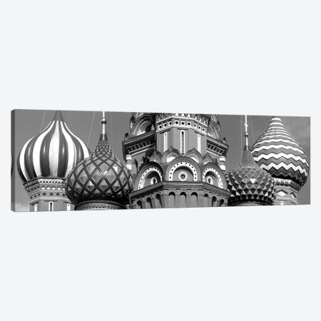 Mid section view of a cathedral, St. Basil's Cathedral, Red Square, Moscow, Russia (black & white) Canvas Print #PIM5399bw} by Panoramic Images Canvas Artwork