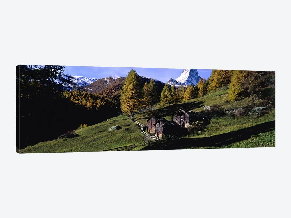 Mountainside Cabins, Valais, Switzerland by Panoramic Images 1-piece Art Print