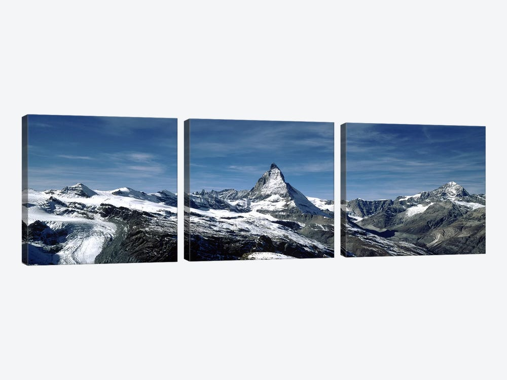 Matterhorn, Valais, Switzerland by Panoramic Images 3-piece Canvas Wall Art