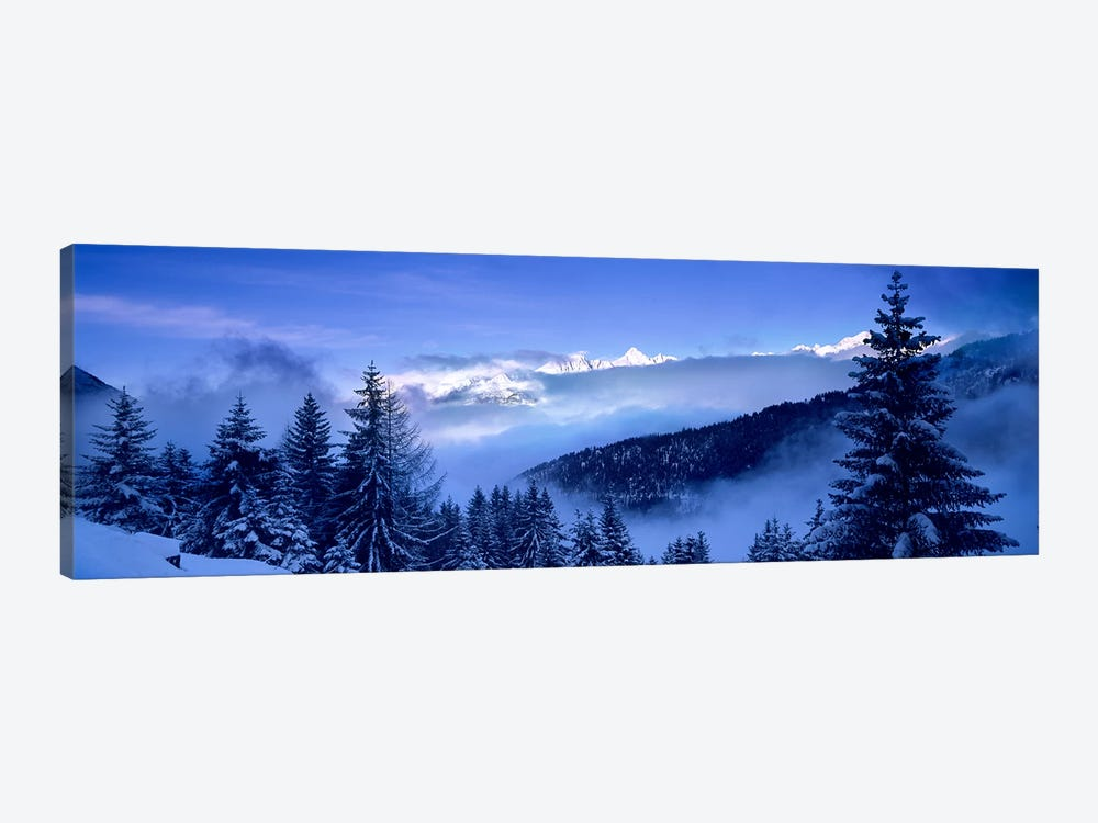 Foggy Winter Day, Simplon Pass, Valais, Switzerland by Panoramic Images 1-piece Canvas Art
