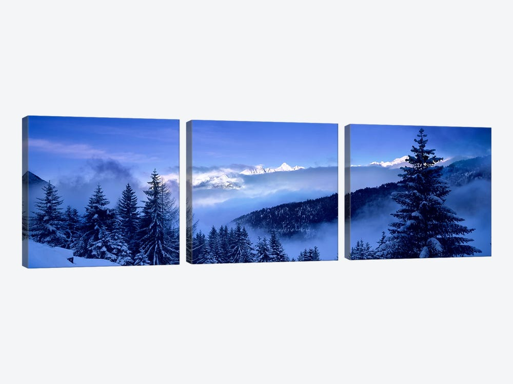 Foggy Winter Day, Simplon Pass, Valais, Switzerland by Panoramic Images 3-piece Canvas Art