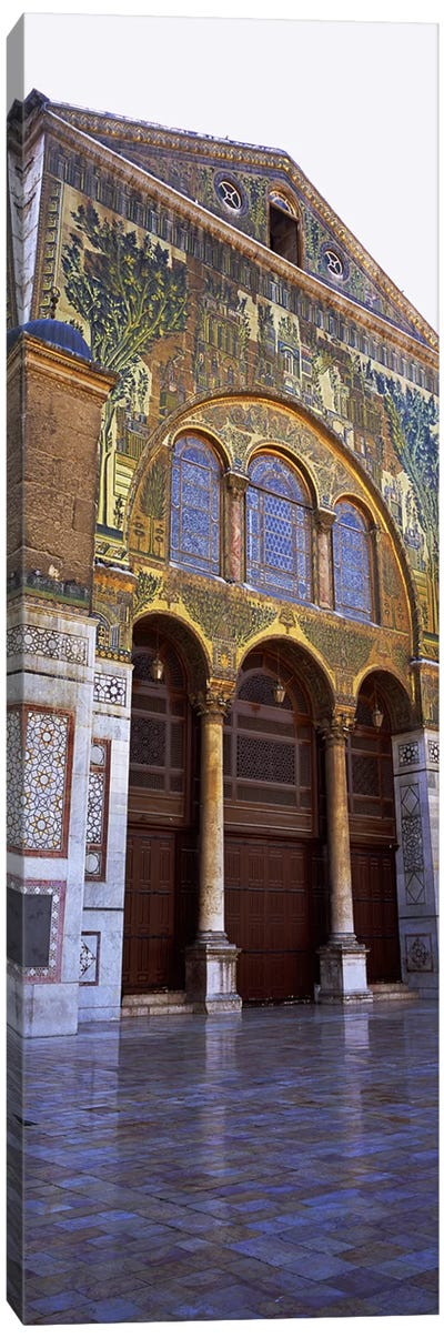 Mosaic facade of a mosque, Umayyad Mosque, Damascus, Syria Canvas Art Print