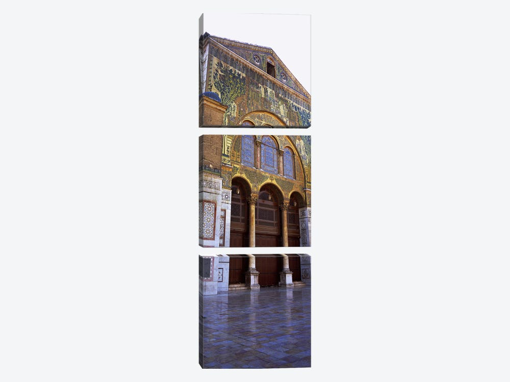 Mosaic facade of a mosque, Umayyad Mosque, Damascus, Syria by Panoramic Images 3-piece Canvas Artwork