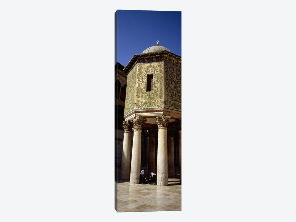 Two people sitting in a mosque, Umayyad Mosque, Damascus, Syria by Panoramic Images 1-piece Canvas Print